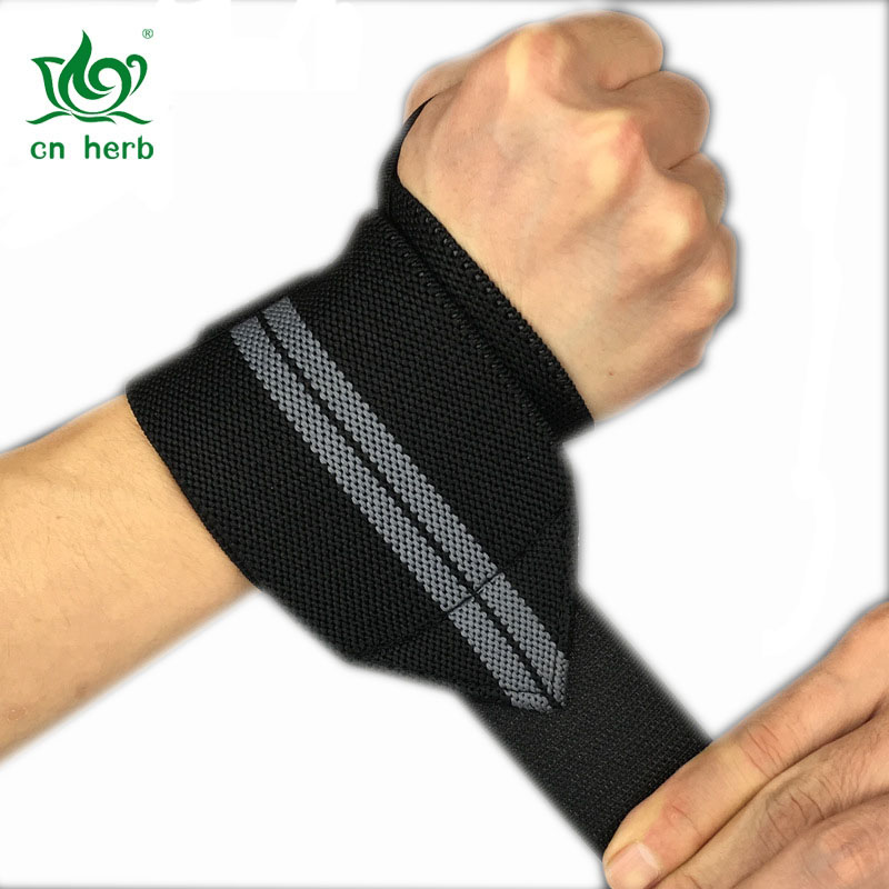 Cn Herb wristband of body-building bandage is helpful for strength training and weight lifting sports gloves.