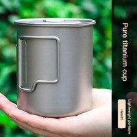 Taza de café portátil de titanio, duradera, ultraligera, para el hogar, exterior, Camping, Picnic, alta calidad, novedad