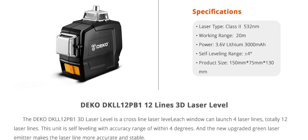 DEKO DKLL12PB1 Laser
