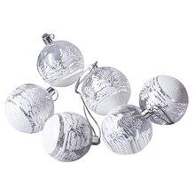 6 шт./лот, елочные игрушки, шар, подвеска, прозрачный черный пластик, Рождественский шар, безделушки, украшение на год