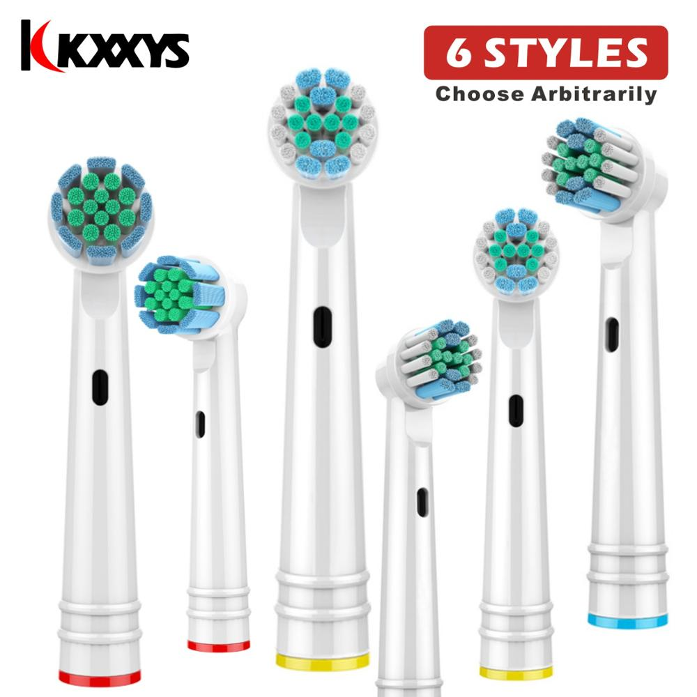 4pcs Replacement Electric Toothbrush Heads For Universal Oral B Advance Power/Pro Health/Triumph/Vitality Precision Clean image