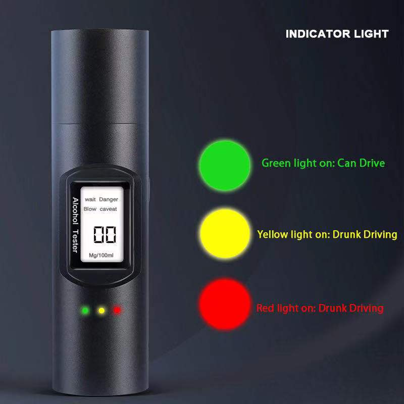 2021 newest breath alcohol tester professional Breathalyzer With LCD Screen Digital Alcohol Detector Powered By USB Charger