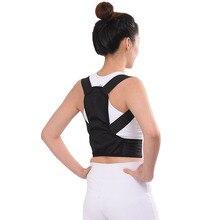 Coluna da clavícula apoio lombar ajustável orthose corset volta suporte cinta adulto casa postura corrector cinto alívio da dor