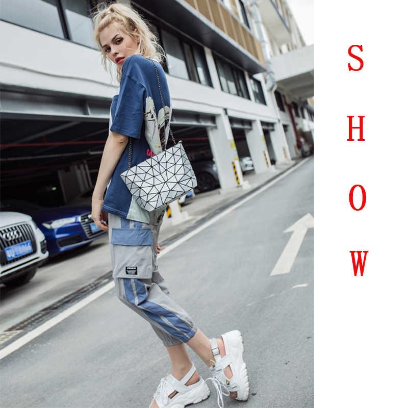 2019 moda Bao kobiety luksusowa torebka plaża torebki Hologram torba na ramię sac główny Messenger sprzęgło bolsa feminina srebrny