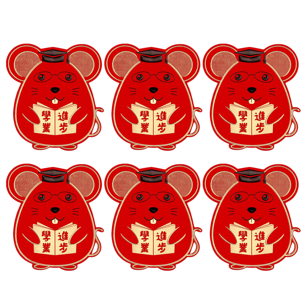 6Pcs New Cute Rat Shape 2020 Red Envelope To Fill In Money Chinese Tradition New Year Red Envelope Storage Gift