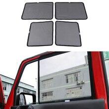 עבור ג יפ רנגלר JK 2007 2017 2/4 דלתות קדמי אחורי דלת חלון שמשיה כיסוי אנטי UV שחור רכב אביזרי פנים