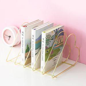 Image 3 - Estante de metal livros suporte estande organizador de mesa armazenamento titular criativo estilo arquivo titular l29k