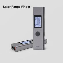 Duka Laser range finder LS P USB di ricarica del flash Gamma Finder 40m 25m di Alta Precisione di Misura telemetro LS 1