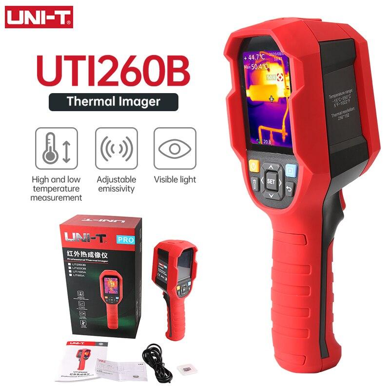UNI-T UTi85A UTi260B Инфракрасный Тепловизор-15 ~ 550 °C промышленная тепловизионная камера Ручной USB Инфракрасный термометр для охоты Автомобильная ин...