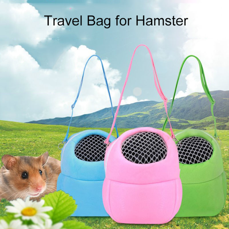 BreathablePortable Cute Pet Hamster Nest Small Animals House Cage Hamster House forTravel Pet Sleeping Bag Supplies Out Door Use