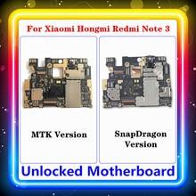 Dla Xiaomi Hongmi Redmi Note 3 płyta główna płyta główna Android MTK / SnapDragon 16G 32G wymieniona płyta główna z chipami