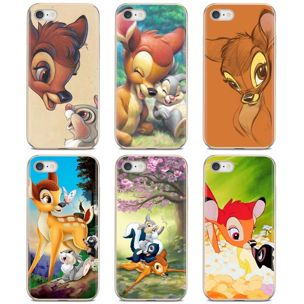 Slim Silicone Soft TPU Phone Case Sika deer Bambi For iPhone 11 Pro 4 4S 5 5S SE 5C 6 6S 7 8 X 10 XR XS Plus Max For iPod Touch