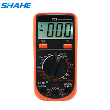 Shahe VC202 Genggam Multimeter Digital Lampu Latar LCD Portable AC/DC Pengukur Amper Pengukur Tegangan Volt Amp Multimetro Digital Current Tester(China)