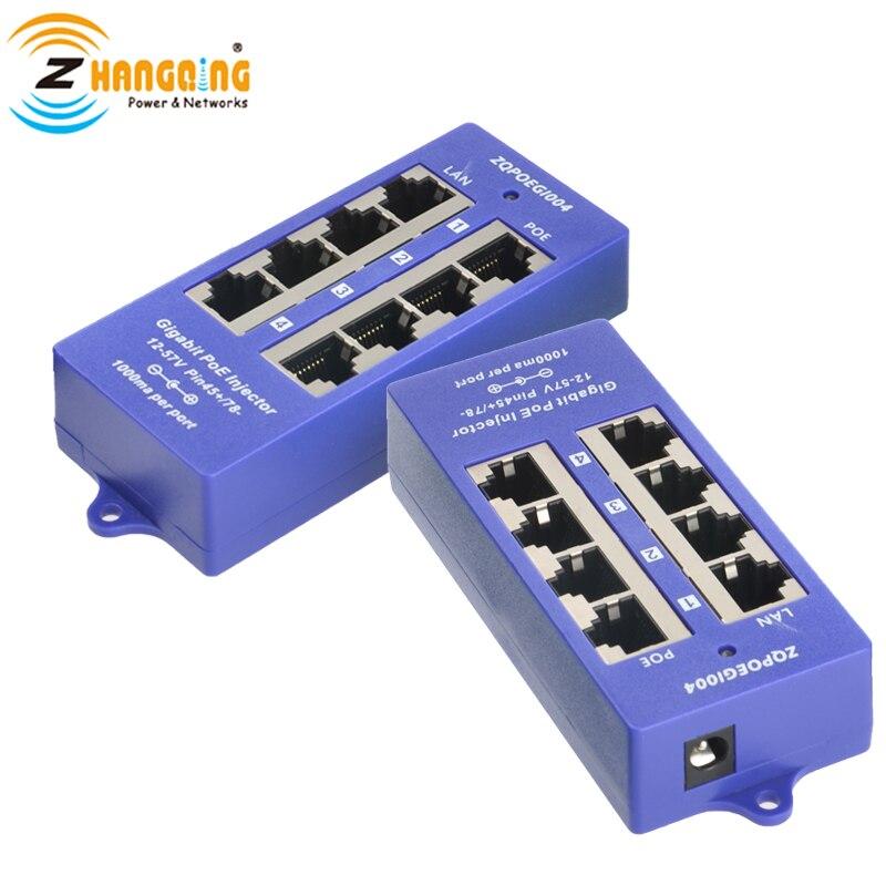 Mode de sécurité B 4 ports Gigabit   Injecteur PoE passif 802.3af pour MicroTik, omniquiti, caméra IP, appareils PoE, livraison gratuite   AliExpress
