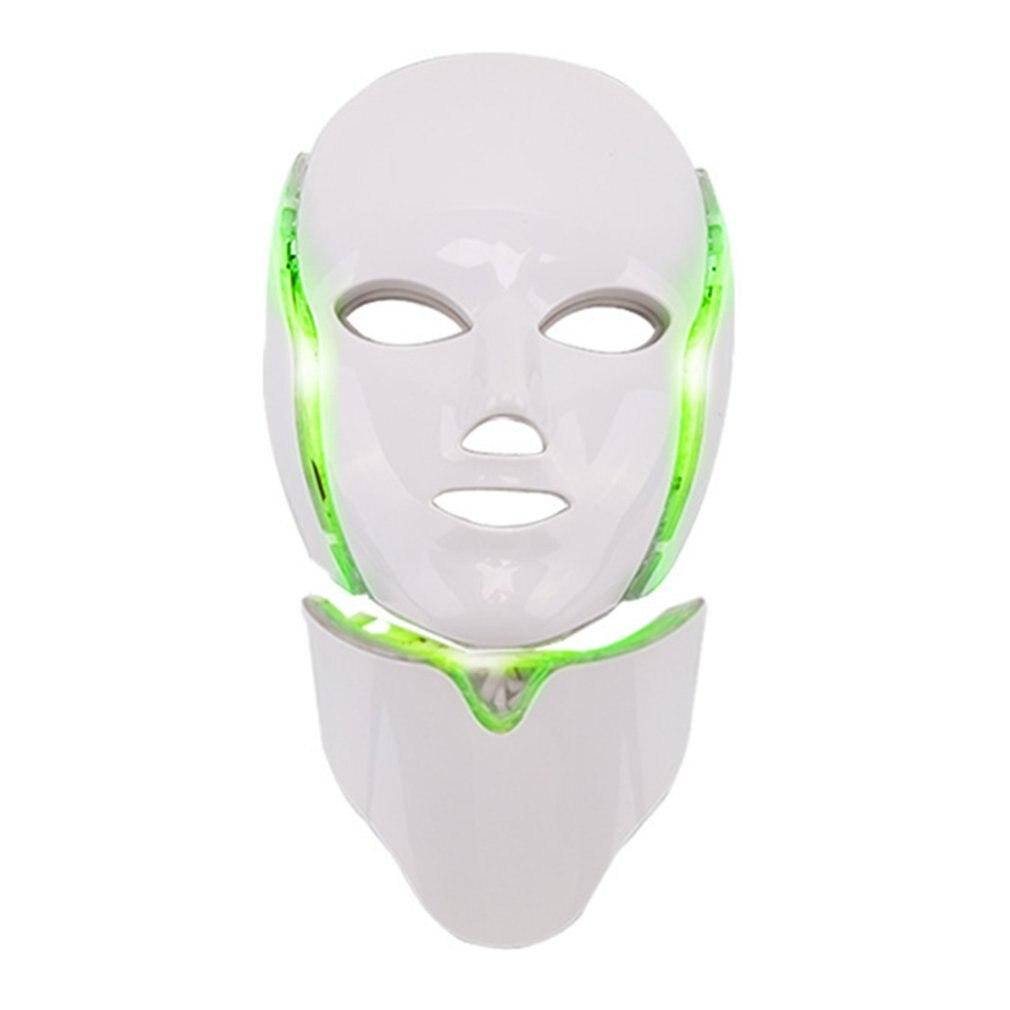 7 cores led máscara facial espectrômetro led terapia máscara de luz terapia acne pescoço máscara facial coreano cuidados com a pele opp saco pacote