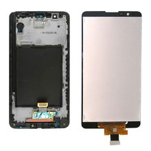 цена на 1Pcs Original For LG Stylus 2 K520 LS775 LCD Display Touch Screen Digitizer Assembly Replacement Black White No/with Frame