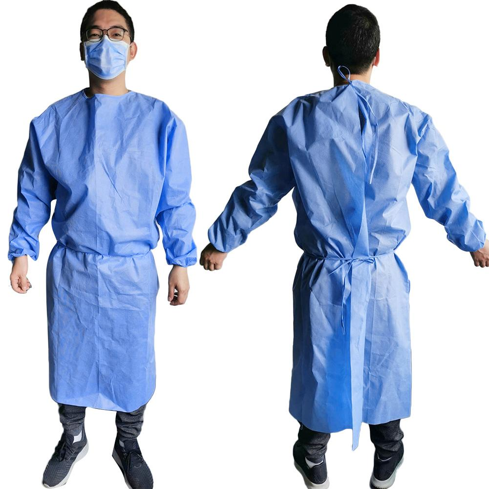 2020 New Disposable Isolation Clothes Non-woven Dust-proof Security Protection Suit Surgical Suit Isolation Gown Blouse