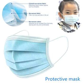 1/5/10/20Pcs 3-layer Kids Disposable Masks Dust Anti flu Protector Masks Protective Masks Boys&Girls mascaras faciais gripe D45
