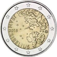 Фото - Finland 2015 Great Musician Sibelius 150th Birthday 2 Euros Real Original Coins True Euro Collection Commemorative Coin Unc sibelius sibelius symphony no 2
