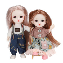 16cm BJD Doll 13 Joints moveable Fashion Dolls Baby nude body with Shoes dodo mouth makeup doll Accessories Toys for Girl gift