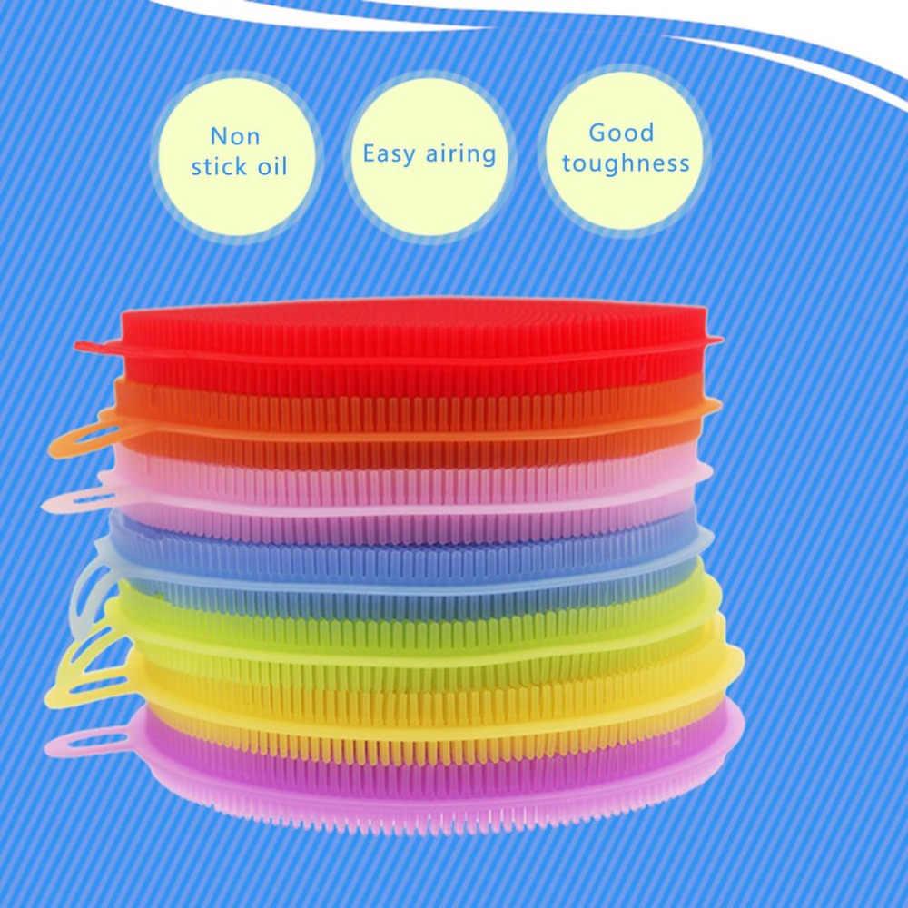 多機能食品グレードのシリコーンラウンド形の皿野菜フルーツ洗濯ブラシ洗浄食器洗いブラシ家庭用品