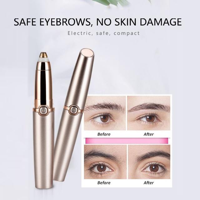 Electric Eyebrow Trimmer Makeup Painless Eye Brow Epilator Mini Shaver Razors Portable Facial Hair Remover Women depilator 3