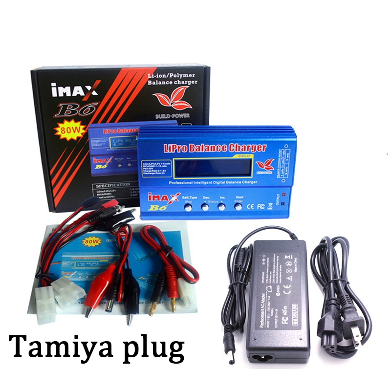 iMAX B6 80W with AC POWER 12v 5A Adapter RC  Tamiya T PLUG for Lipo NiMH NiCd Battery Balance Charger