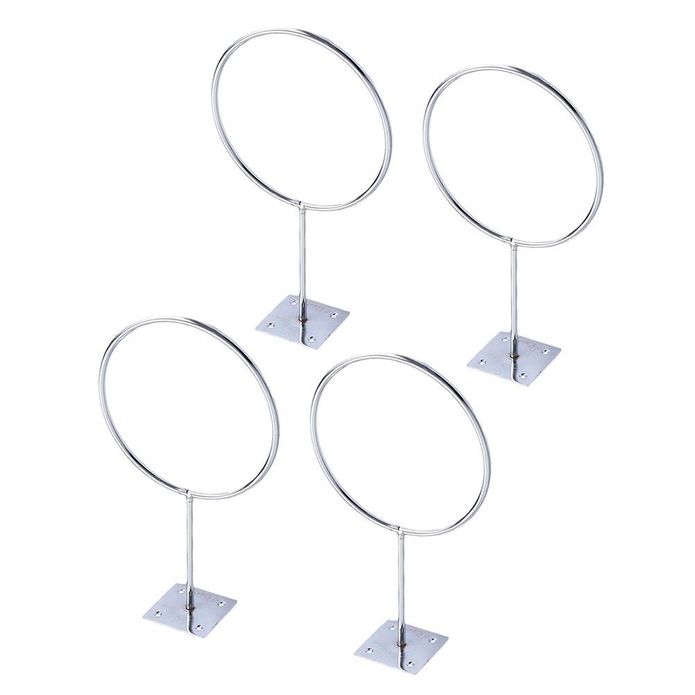 4 pçs rack de bola de ferro montagem na parede suporte de exibição suporte de bola rack de bola para futebol vôlei basquete