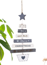 Beautiful Wooden Christmas Hanging Ornament Tree Decorations Colorful Hollow Decoration