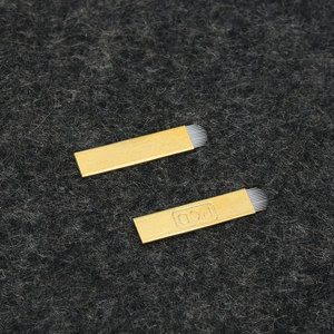 Image 3 - 0.25mm 5 adet/takım Pro 12/14/19 Pins kalıcı makyaj kaş dövme bıçağı için Microblading İğneler 3D nakış manuel dövme kalemi