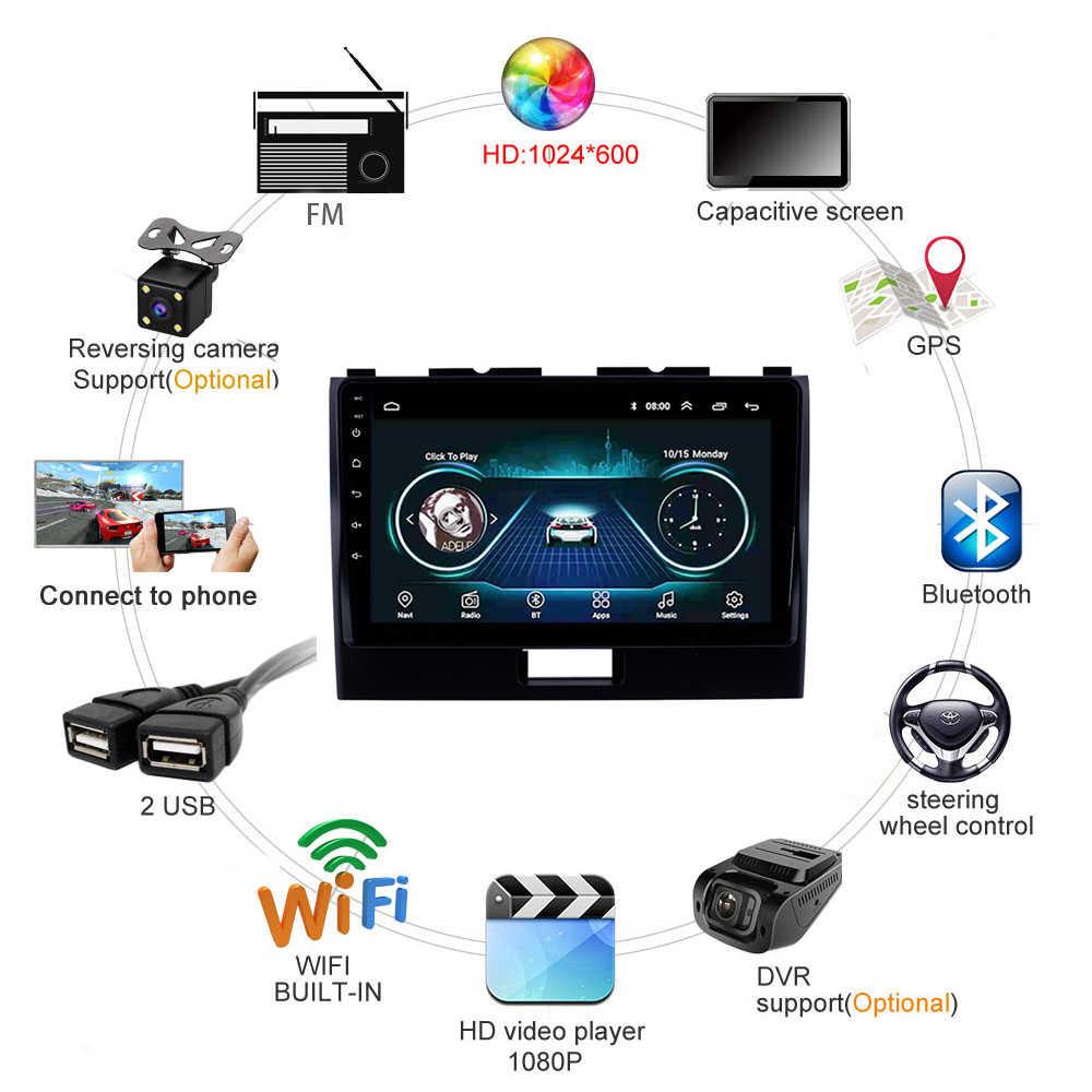 """車用 WAGONR 2010-2018 ワゴン R マルチメディアシステムアンドロイド 8.1 9 """"と 2.5D タッチスクリーン WIFI AUX Carplay bluetooth"""