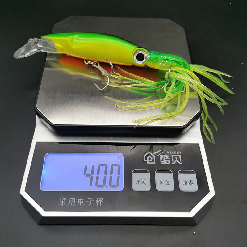 14cm//40g Fishing Lure  Squid Trolling Lures Artificial Hard Octopus Hooks