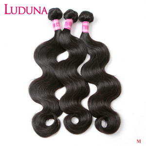 Luduna Body Wave Hair Bundles Malaysian Hair Bundles Remy Human Hair Extension 1/3/4 Bundles Deals Weave Hair Weft