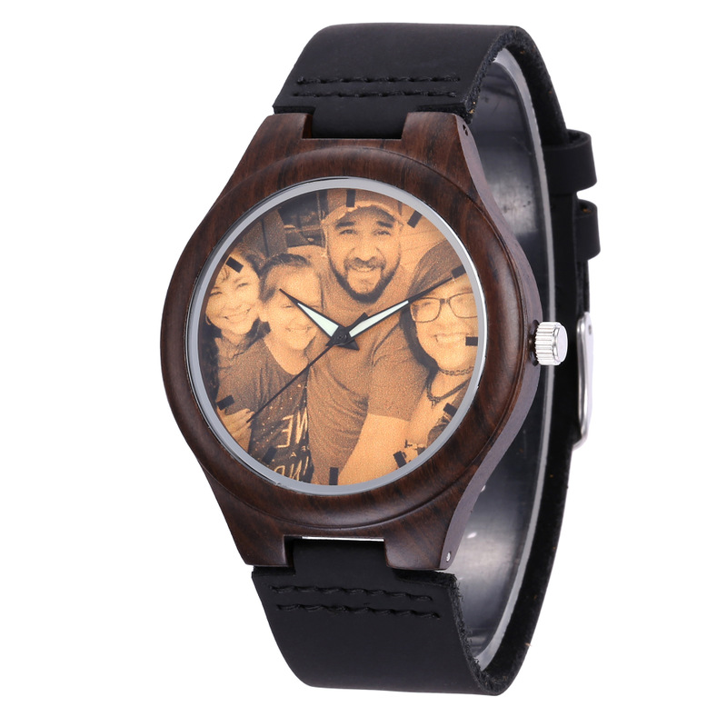 2019 New Sale One-on-one Private Custom Watches Printed To Mark The Bottom Cover Lettering Diy Wooden Watch
