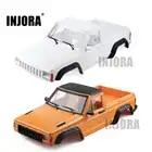 INJORA Gelb Weiß 313mm Radstand Pickup Lkw Körper Shell Kit für 1/10 RC Crawler Auto Axial SCX10 & SCX10 II 90046