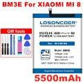 LOSONCOER 5500 мА/ч, BM3E Замена батареи для Xiaomi mi-8 Mi8 M8 Мобильный телефон батареи бесплатная инструменты наклейки