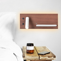 ZEROUNO Reading LED Night Light Back Emitting Headboard Light USB Wireless Wall Light Bedroom Nightlights Wall Sconces Lamp