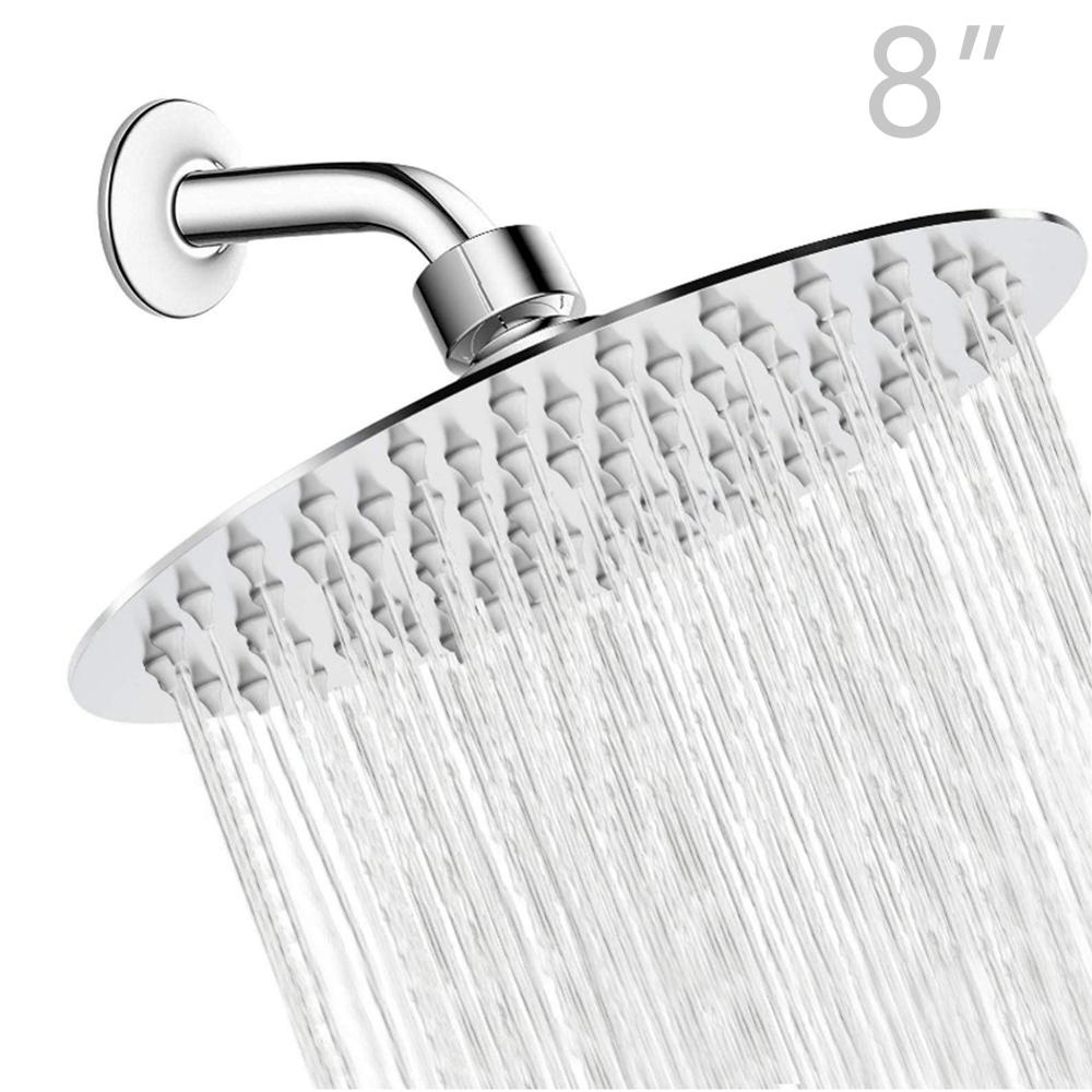High Pressure Stainless Steel Shower Head Rain Shower Head High Flow Large Bath Shower Universal Wall And Ceiling Mount