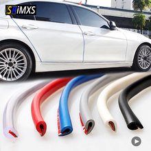 Protection universelle des bords des portes de voiture, Type U, 2.5m/5m/10m, bande de moulage en caoutchouc, Protection contre les rayures, pour automobile