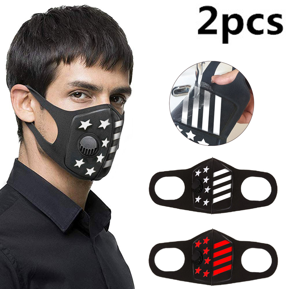 2Pcs Respiratory Dust Mask Upgraded Version Men & Women Anti-fog Haze Pm2.5 Pollen 3D Anti-dust Mouth  Mask