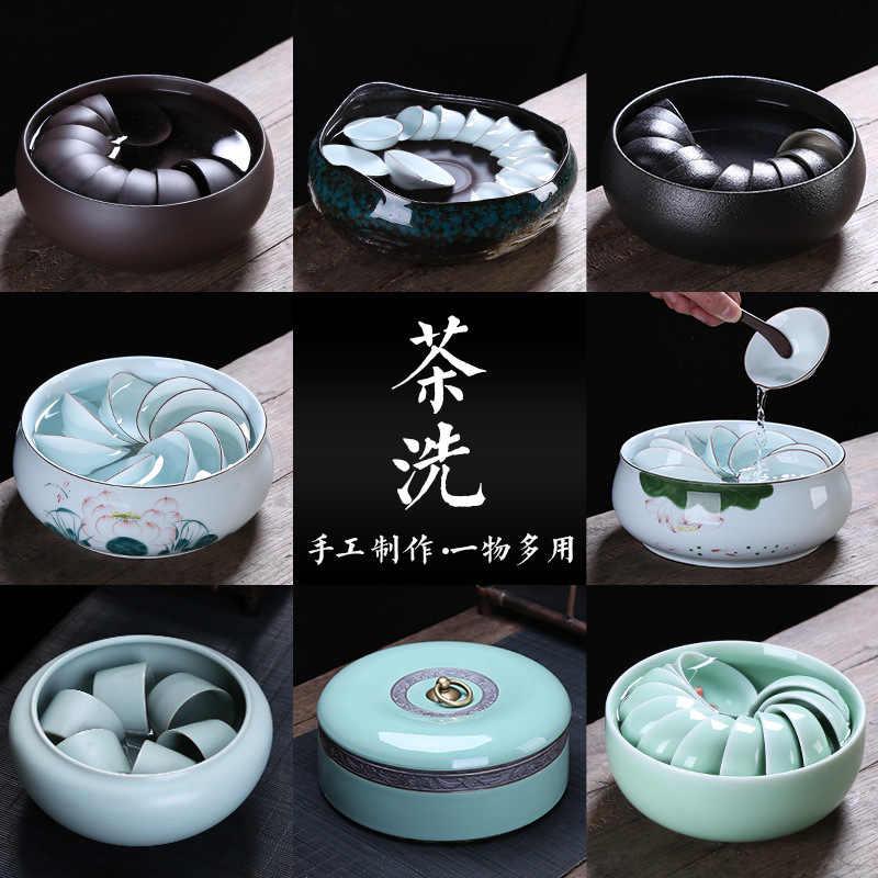 Большой размер керамический чайный бассейн кунг фу сервиз аксессуары для мытья