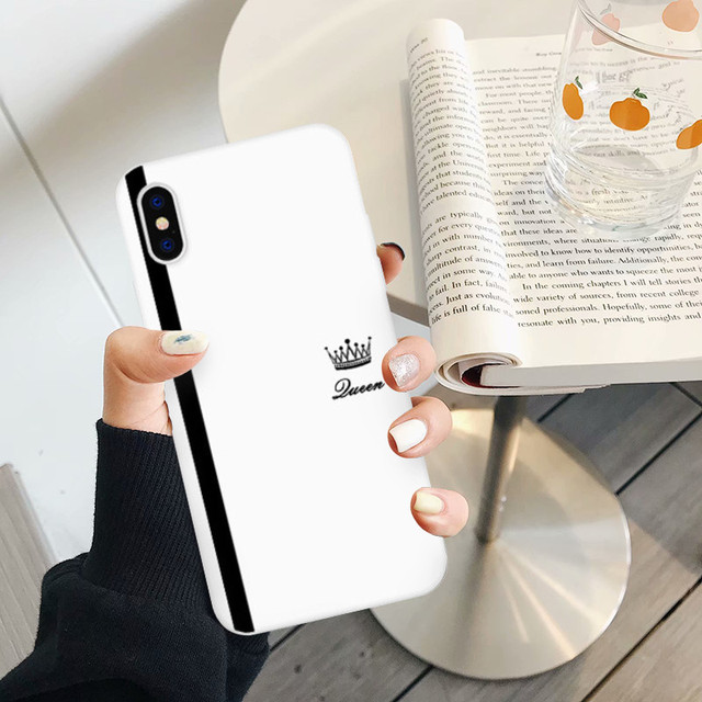 King Queen Lovers Couple Case For iPhone