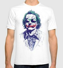 Joker Never Serious T-Shirt, Heath Ledger Tee, Men's Women's All Sizes Colorful O Neck T-Shirt(China)