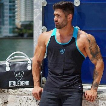 BELEGEND Gym Men Sleeveless Muscle Tank Top Tee Shirt Bodybuilding Sport Fitness Running Vest Summer Male Workout Tanks Clothes 1