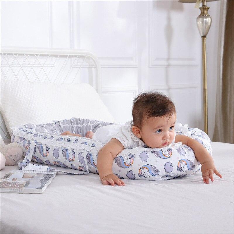 Nouveau-né chaise longue, Portable doux respirant bébé blottir nid, amovible couverture bébé Bionic lit pour nourrissons tout-petits-100% coton
