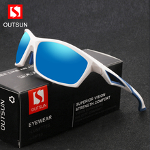 OUTSUN TR90 Polarized Sunglasses Men Ultra Light Frame Fashion New Sports Style