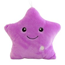 Glowing Pillow Led-Light-Toys Cushion Plush-Doll Star Girl Gift for Kids Colorful