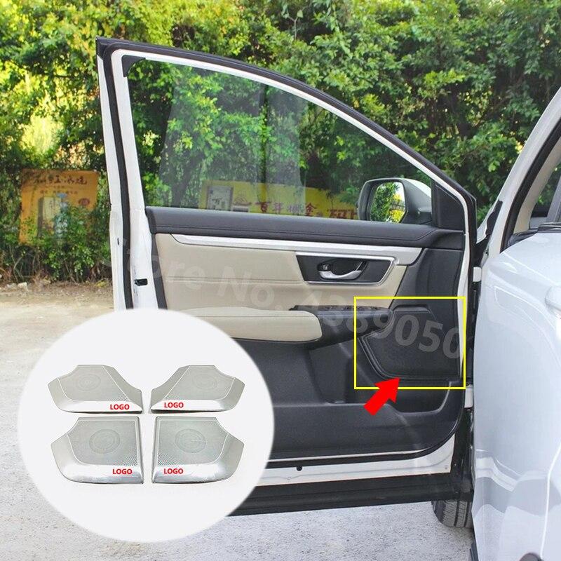 Для Honda CR V CRV 2017 2018 2019 2020 из нержавеющей стали, автомобильный Внутренний дверной динамик, аудио рожок, накладка, автомобильные аксессуары, Ста