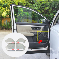 For Honda CR V CRV 2017 2018 2019 2020 Stainless Steel Car Interior door speaker audio Horn Cover Trims Car Accessories Styling