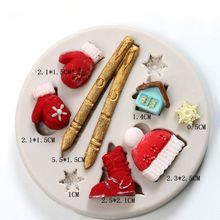 3D Christmas Gloves Snowflakes Silicone Mold Fondant Cake Chocolate Decorating